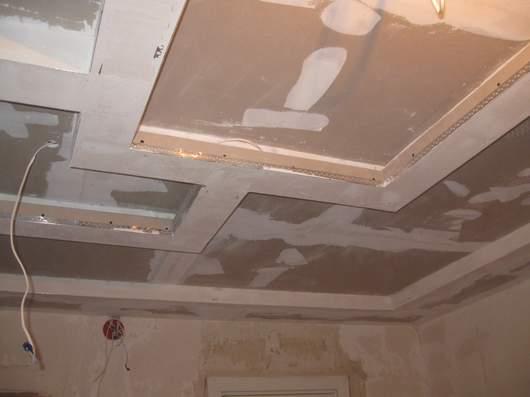 Шпаклевка потолок из гипсокартона