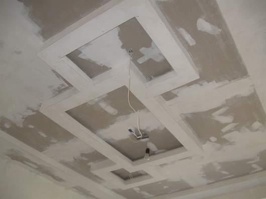 Потолок после шпаклевки