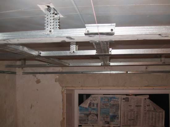 Обрешетка потолка под гипсокартон