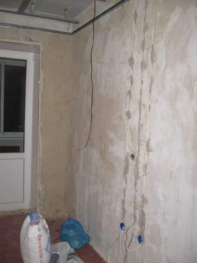 Проводка по стене